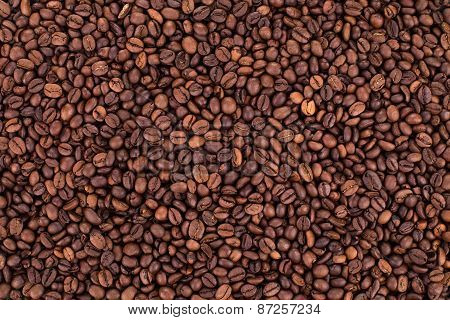 Coffee Beans background close up.