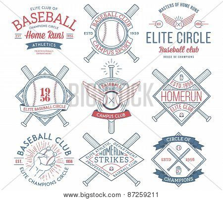 Baseball Badges And Crests Vol. 1 Colored
