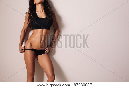 Young Woman In Sporty Lingerie