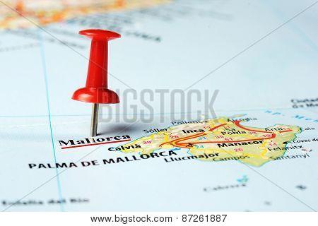 Mallorca  Island ,spain Map