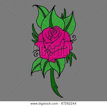 pink rose design