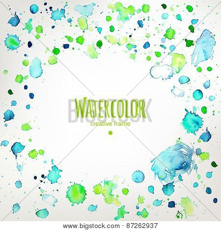 Fresh Colors Hand Drawing Splashes Frame