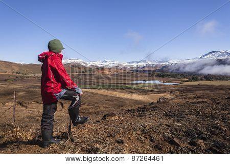 Teen Boy Mountain Landscape