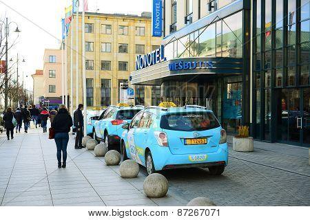 Vilnius City Gediminas Street On Morning Time