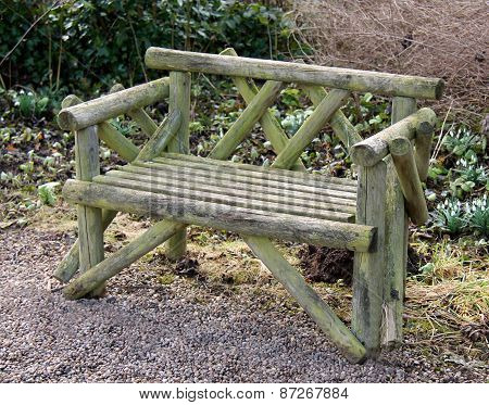 Wooden Bench.