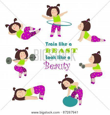 Workout fitness girls