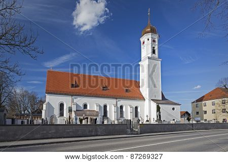 Renovated church in Steinhoering village, Germany