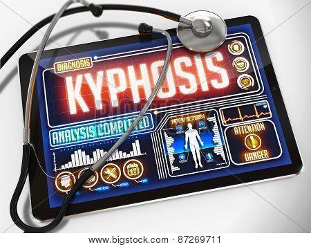 Kyphosis on the Display of Medical Tablet.