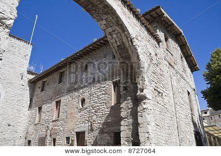 St. Pietro Gate. Gubbio. Umbria.