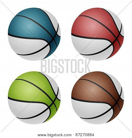 Vector Basketballs