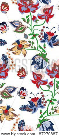 Traditional flower seamless background