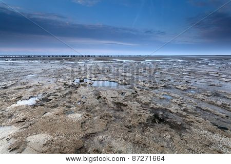 Low Tide On North Sea Coast