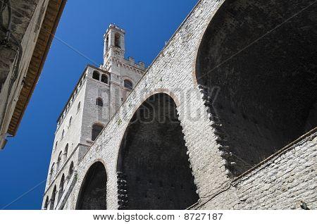 Konsuln Palace. Gubbio. Umbrien.