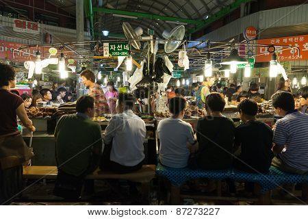 Gwangjang street market, Seoul