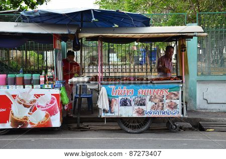 Street Vendors Wait For Customers