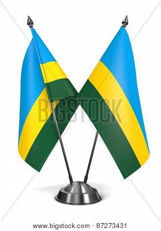 Rwanda - Miniature Flags.