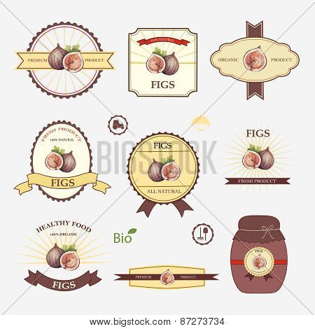 Figs, Set Of Label Design
