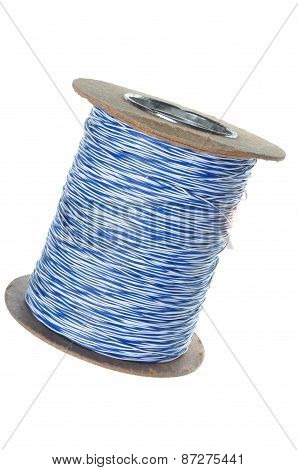Roll of telecommunication network cable