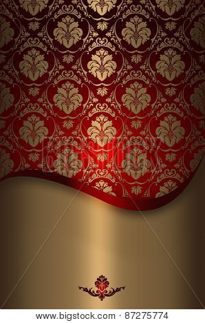 Decoratve Background With Floral European Patterns.