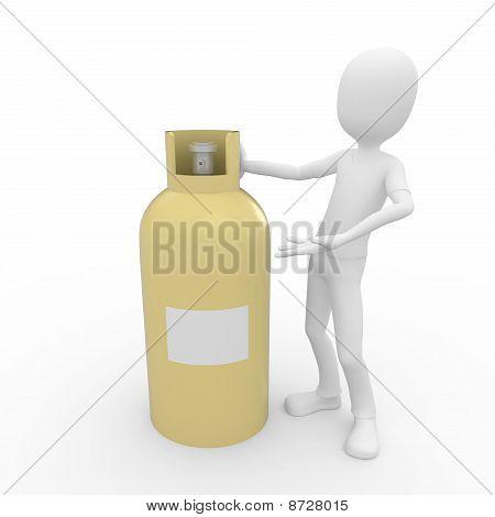 3D Man Witg Gas Tank