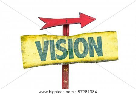 Vision sign isolated on white