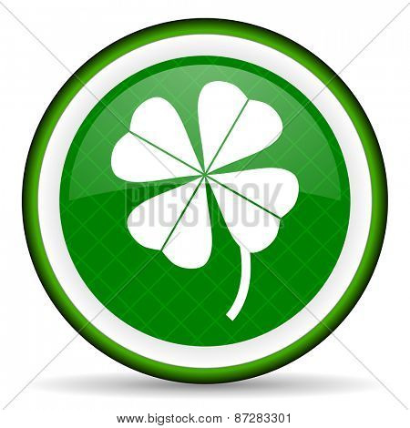 four-leaf clover green icon