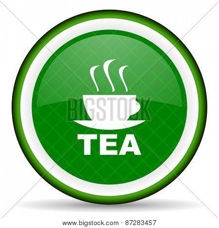 tea green icon hot cup of tea sign