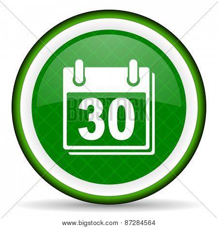 calendar green icon organizer sign