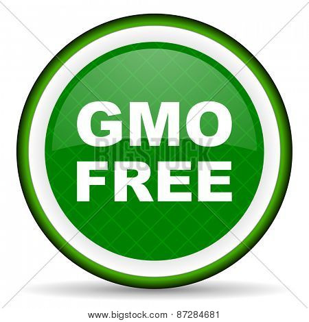 gmo free green icon no gmo sign