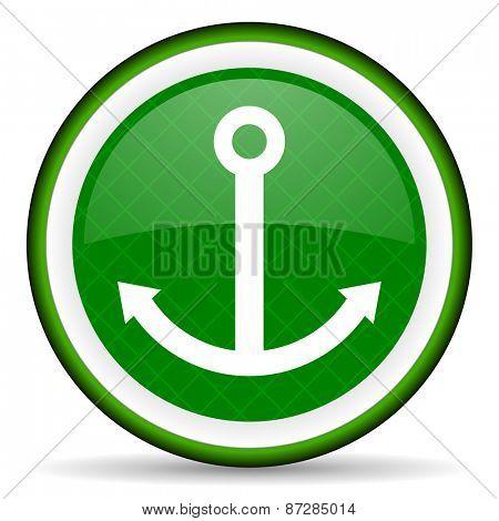 anchor green icon sail sign