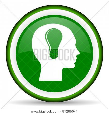 head green icon human head sign