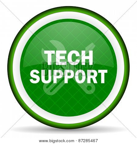 technical support green icon