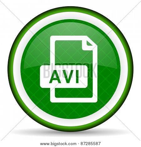 avi file green icon