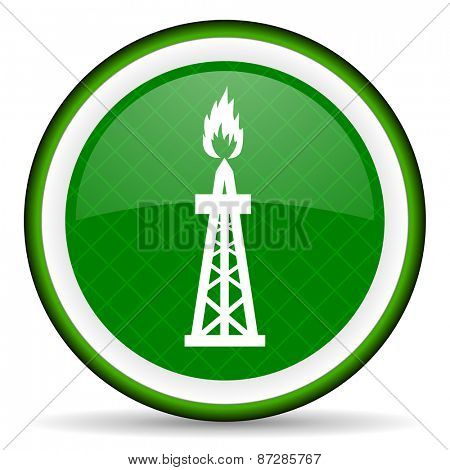 gas green icon oil sign