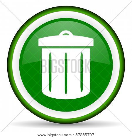 recycle green icon recycle bin sign