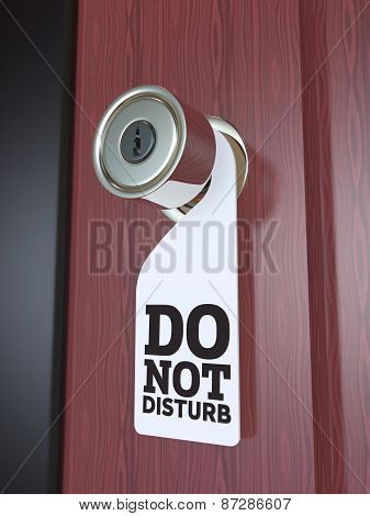 Do Not Disturb Sign on the Door Handle 3D