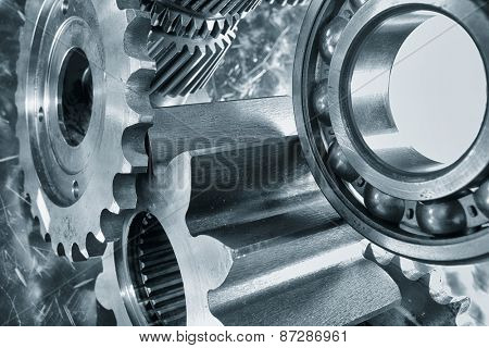 aerospace cogwheels and bearings in titanium and steel