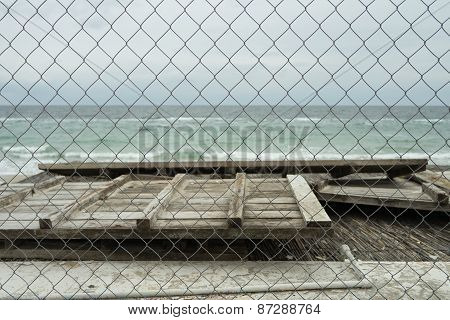 Sea View Through The Netting