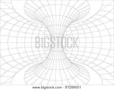 Wall inside torus. Vector