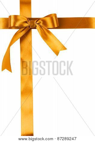 Clean Sheet Is Tied Up By A Golden Satin Ribbon With A Bow