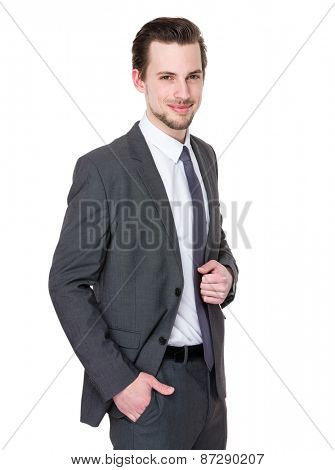 Portrait cool young businessman