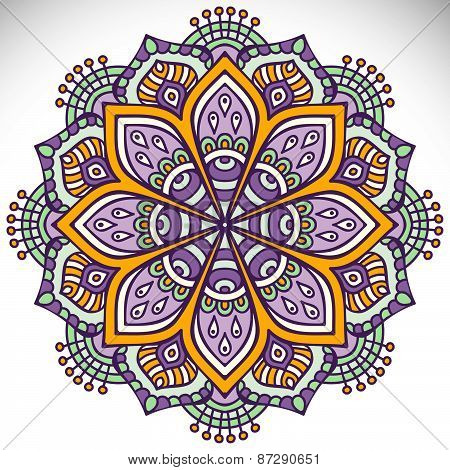 Mandalas collection. Round Ornament Pattern. Vintage decorative elements.