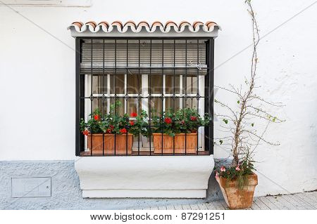 Villages Of Andalucia With Flowers In The Streets