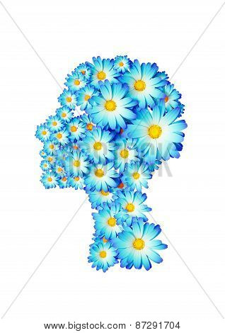 Isolated Flower Woman Face
