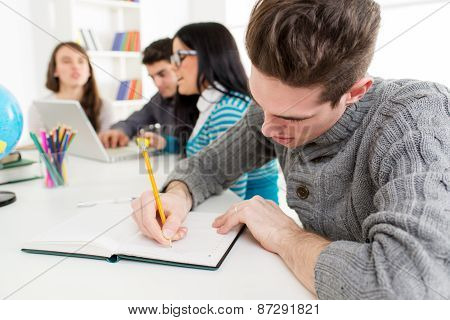 Man Student Learning
