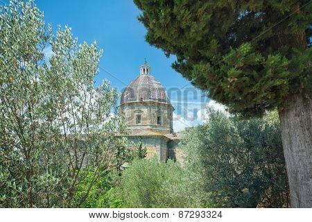 Church of Santa Maria Nuova in historical city Cortona