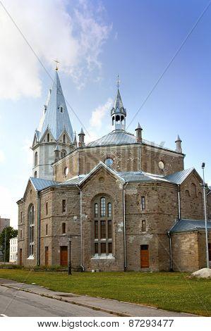 Alexander's Lutheran church in Narva Estonia.