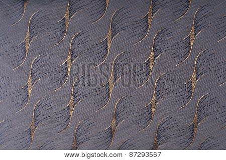 Brown Fabric With Diagonal Pattern