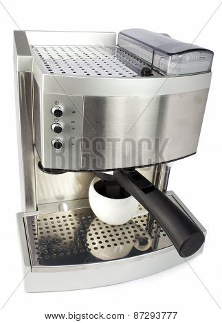 coffee maker and cup