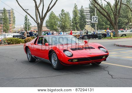Lamborghini Miura Classic Car On Display